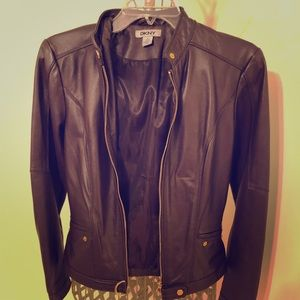 Burgundy Real Leather jacket